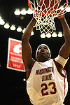 Washington State University freshman forward, DeAngelo Casto, dunks the basketball during the game against the Gonzaga Bulldogs in Pullman, Washington, on December 10, 2008.  Gonzaga prevailed in the game 74-52.