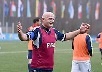 Fussball International 29.02.2016 FIFA Praesident Gianni Infantino (Schweiz) erster Tag im Home of Fifa