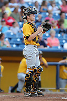 Bowling Green Hot Rods catcher Mark Thomas (33) during a game vs. the Lake County Captains at Classic Park in Eastlake, Ohio;  August 20, 2010.   Lake County defeated Bowling Green 5-3.  Photo By Mike Janes/Four Seam Images