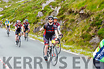 Colin son on the road to Caherdaniel during their Ring of Kerry cycle on Saturday morning