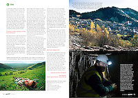 Robin Wood Magazin (paper of German environmental organization Robin Wood) on the Romanian gold mining project of Rosia Montana, March 2014<br /> Photos: Martin Fejer