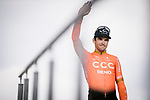 Greg Van Avermaet (BEL) CCC Team at the team presentations in Compiegne before Paris-Roubaix 2019, Compuiegne, France. 13th April 2019<br /> Picture: ASO/Pauline Ballet | Cyclefile<br /> All photos usage must carry mandatory copyright credit (&copy; Cyclefile | ASO/Pauline Ballet)