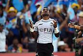 January 27th, Hamilton, New Zealand;  Fiji's Jerry Tuwai celebrates his try during the Day 2 of the HSBC World Rugby Sevens Series 2019, FMG Stadium Waikato,Hamilton, Sunday 27th January 2019.