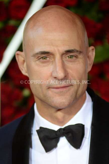 www.acepixs.com<br /> June 12, 2016  New York City<br /> <br /> Mark Strong attending the 70th Annual Tony Awards at The Beacon Theatre on June 12, 2016 in New York City.<br /> <br /> Credit: Kristin Callahan/ACE Pictures<br /> <br /> <br /> Tel: 646 769 0430<br /> Email: info@acepixs.com