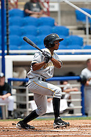 James Skelton (18) of the Bradenton Marauders during a game vs. the Dunedin Blue Jays May 16 2010 at Dunedin Stadium in Dunedin, Florida. Bradenton won the game against Dunedin by the score of 3-2.  Photo By Scott Jontes/Four Seam Images