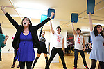 Barrett Wilbert Weed and Company performing at the Open Press Rehearsal for 'Heathers The Musical' on February 19, 2014 at The Snapple Theatre Center in New York City.
