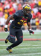 College Park, MD - September 9, 2017: Maryland Terrapins defensive back Antoine Brooks (25) in action during game between Towson and Maryland at  Capital One Field at Maryland Stadium in College Park, MD.  (Photo by Elliott Brown/Media Images International)