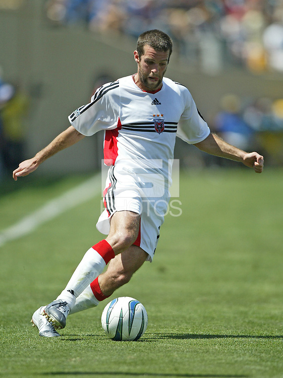 DC United midfielder Ben Olsen in action during an MLS match against the San Jose Earthquakes on May 1, 2004 at Spartan Stadium in San Jose, California.