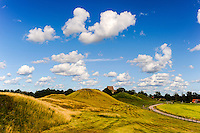 Sweden, Gamla Uppsala. The Royal mounds (Kungshögarna).