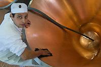 Il primo immigrato produttore di Parmigiano Reggiano..Sull'Appennino parmense, ad Antreola, dal Marocco Mohammed Marhani e la moglie Fatima gestiscono la cooperativa del Caseificio San Giovanni Battista che raccoglie il 99% della produzione locale del latte. Tutte le mattine, 365 giorni all'anno Mohammed con il suo furgone compie il giro di tutte le fattorie per ritirare il latte, quindi nel caseificio inizia la produzione del Parmigiano Reggiano producendo 350 forme di formaggio all'anno..Mohammed and his wife, from Morocco to Italy, , produces every day Parmesan cheese