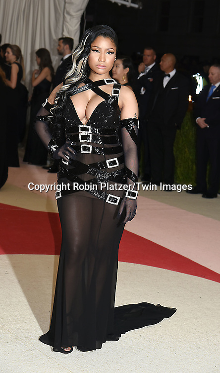Nicki Minaj attends the Metropolitan Museum of Art Costume Institute Benefit Gala on May 2, 2016 in New York, New York, USA. The show is Manus x Machina: Fashion in an Age of Technology. <br /> <br /> photo by Robin Platzer/Twin Images<br />  <br /> phone number 212-935-0770
