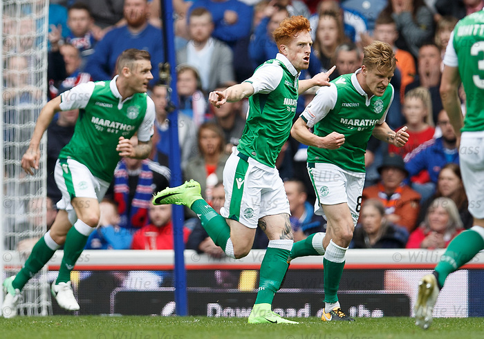 Simon Murray celebrates his goal
