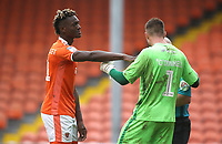 Blackpool's Armand Gnanduillet is fowled by Bradford City's Richard O'Donnell<br /> <br /> Photographer Rachel Holborn/CameraSport<br /> <br /> The EFL Sky Bet League One - Blackpool v Bradford City - Saturday September 8th 2018 - Bloomfield Road - Blackpool<br /> <br /> World Copyright &copy; 2018 CameraSport. All rights reserved. 43 Linden Ave. Countesthorpe. Leicester. England. LE8 5PG - Tel: +44 (0) 116 277 4147 - admin@camerasport.com - www.camerasport.com