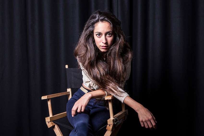 """Oona Chaplin, actor, photographed in London. She is the granddaughter of Charlie Chaplin, Great granddaughter of Eugene O'Neill and daughter of Geraldine Chaplin and Patricio Castilla. She is in the new BBC Series of """"The Hour""""."""