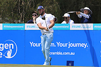 Damien Perrier (FRA) on the 3rd tee during Round 3 of the Australian PGA Championship at  RACV Royal Pines Resort, Gold Coast, Queensland, Australia. 21/12/2019.<br /> Picture Thos Caffrey / Golffile.ie<br /> <br /> All photo usage must carry mandatory copyright credit (© Golffile | Thos Caffrey)