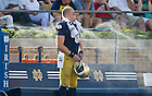 Aug. 31, 2013; Long snapper Scott Daly (61) cools off on the bench.<br /> <br /> Photo by Matt Cashore