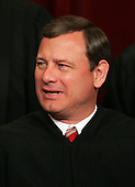 Washington, D.C. - March 3, 2006 -- Chief Justice of the United States John G. Roberts Jr. poses for photos during a group portrait session at the United States Supreme Court Building in Washington, D.C. on March 3, 2006. President George W. Bush nominated him as Chief Justice of the United States following the death of William H. Rehnquist. He took his seat on September 29, 2005..Credit: Pool via CNP