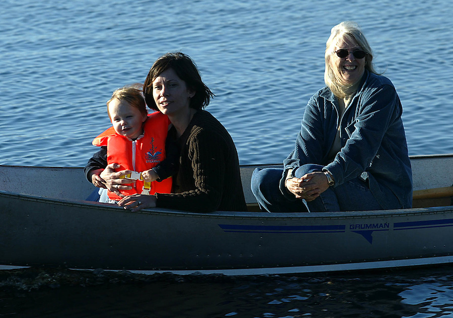 family outing boating