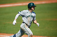 Dartmouth Big Green right fielder Matt Feinstein (23) runs to first base during a game against the Bradley Braves on March 21, 2019 at Chain of Lakes Stadium in Winter Haven, Florida.  Bradley defeated Dartmouth 6-3.  (Mike Janes/Four Seam Images)