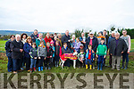 Frankies Call winner of the National Bitch Oaks Trial Stake and the Sean Bob O'Sullivan Memorial Cup at the 58th Island Cup meeting of the Castleisland coursing Club on Monday. Shauna Riordan Great grand daughter of Sean Bob O'Sullivan presented the cup to Padraig Buckley