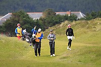 Hazel MacGarvie (Troon Ladies) walking down the 1st during Round 1 of the Women's Amateur Championship at Royal County Down Golf Club in Newcastle Co. Down on Tuesday 11th June 2019.<br /> Picture:  Thos Caffrey / www.golffile.ie<br /> <br /> All photos usage must carry mandatory copyright credit (© Golffile | Thos Caffrey)