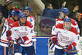 Chris Maniccia (UML - 17), Josh Holmstrom (UML - 12), Jake Suter (UML - 28), Zack Kamrass (UML - 27), Terrence Wallin (UML - 9) - The University of Massachusetts Lowell River Hawks defeated the visiting American International College Yellow Jackets 6-1 on Tuesday, December 3, 2013, at Tsongas Arena in Lowell, Massachusetts.