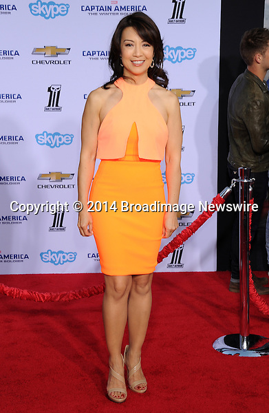 Pictured: Ming-Na Wen<br /> Mandatory Credit &copy; Gilbert Flores/Broadimage<br /> Captain America: The Winter Soldier - Los Angeles Premiere<br /> <br /> 3/13/14, Hollywood, California, United States of America<br /> <br /> Broadimage Newswire<br /> Los Angeles 1+  (310) 301-1027<br /> New York      1+  (646) 827-9134<br /> sales@broadimage.com<br /> http://www.broadimage.com