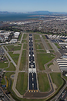 aerial photograph Hayward airport, Alameda county, California