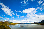 View of Susitna River, Denali Highway, Southcentral Alaska, Summer.