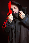 SLIPKNOT - turntables and keyboardist Sid Wilson - Photosession in Las Vegas NV USA - 15 May 2019.  Photo credit: Paul Harries/IconicPix