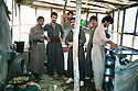 Iraq 1987 .Peshmergas in a kitchen in the mountains.Irak 1987.Peshmergas dans une cuisine dans les montagnes.