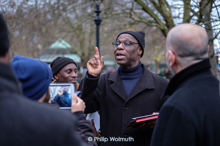 Christian debater, Speakers' Corner, Hyde Park, London.