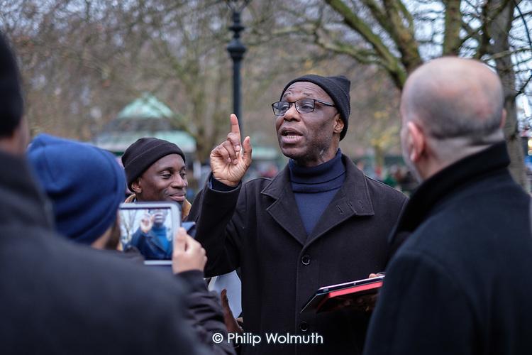 Christian debater, Speakers' Corner, Hyde Park, London.