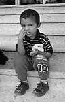 Village near Tegucigalpa, Honduras. Honduran boy.