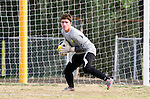 Palos Verdes, CA 01/22/13 - Christian Gillis (Peninsula #22) in action during the West vs Peninsula boys varsity soccer game at Peninsula High School.