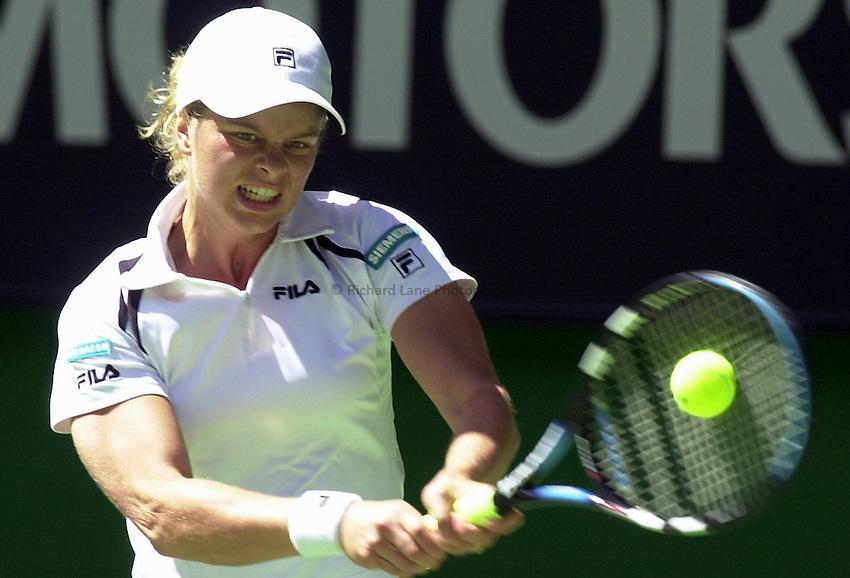 Australian Open Tennis 2003.22/01/2003..Kim Clijsters