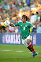 Miguel Ponce (16) Mexico in action... Mexico defeated Honduras 2-1 after extra time to win the CONCACAF Olympic qualifying trophy at LIVESTRONG Sporting Park, Kansas City, Kansas.