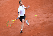 4th June 2017, Roland Garros, Paris, France; French Open tennis championships;  Richard Gasquet (fra)during his game against fellow countryman Monfils