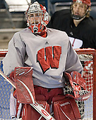 Shane Connelly - The University of Wisconsin Badgers practiced on Wednesday, April 5, 2006, at the Bradley Center in Milwaukee, Wisconsin.  The Badgers won the Title by defeating Maine on April 6 and Boston College on April 8.