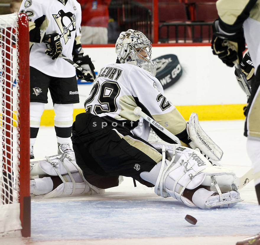 MARC-ANDRE FLEURY, of the Pittsburgh Penguins.