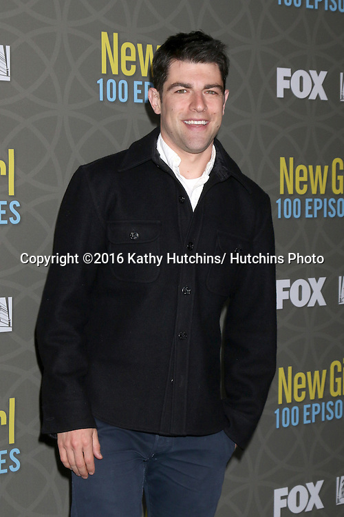 LOS ANGELES - MAR 3:  Max Greenfield at the New Girl 100th Episode Party at the W Westwood on March 3, 2016 in Westwood, CA