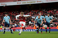 Emile Smith Rowe scores Arsenal's fourth goal from the penalty spot during Arsenal Youth vs Blackpool Youth, FA Youth Cup Football at the Emirates Stadium on 16th April 2018