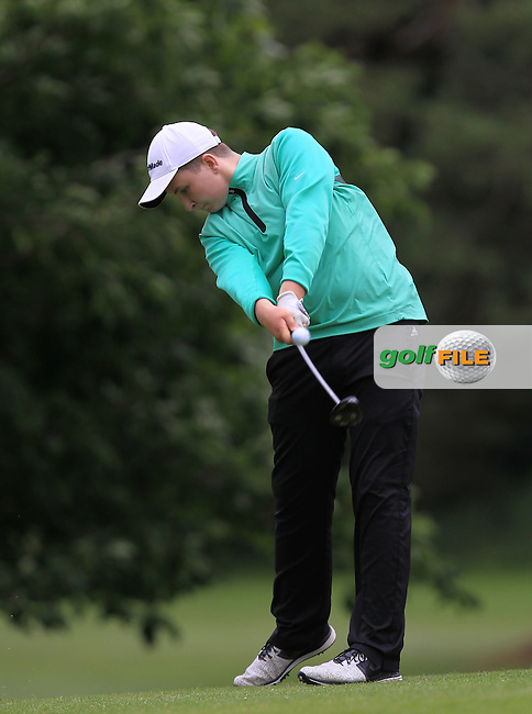 Stephan Campbell (The Island) on the 16th tee during Round 1 of the 2016 Leinster Boys Amateur Open Championship at Mullingar Golf Club on Tuesday 21st June 2016.<br /> Picture:  Golffile | Thos Caffrey