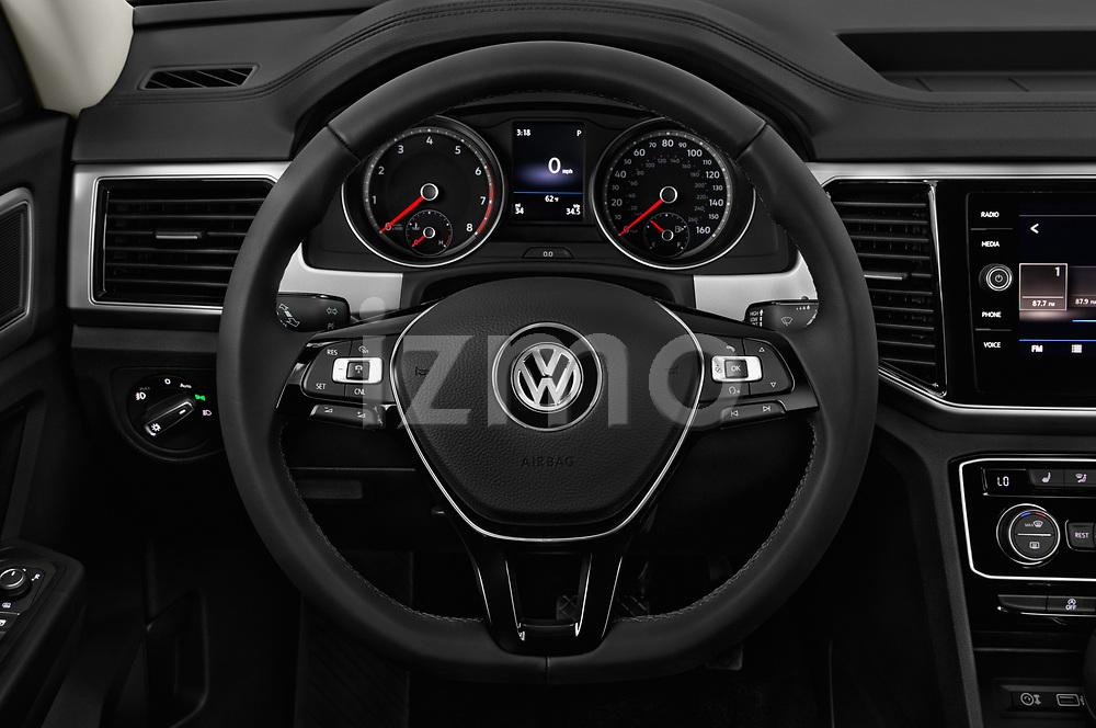 Car pictures of steering wheel view of a 2018 Volkswagen Atlas SEL 5 Door SUV