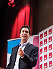 Rt Hon Ed Miliband MP<br /> leaer of the Labour Party <br /> keynote speech at the Fabian Society Conference at the Institute of Education, London, Great Britain <br /> 12th January 2013 <br /> <br /> <br /> Ed Miliband delivering his keynote speech at the Fabian Society's New Year Conference<br /> titled 'Next State'.<br /> <br /> <br /> <br /> Photograph by Elliott Franks