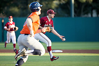 STANFORD, CA - February 20, 2016:  Stanford plays the second game in the season-opening double header vs Cal State Fullerton at Klein Field at Sunken Diamond. Stanford won 2-1.