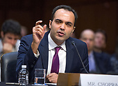 Rohit Chopra testifies before the United States Senate Committee on Commerce, Science, and Transportation on his nomination to be a member of the Federal Trade Commission (FTC) on Capitol Hill in Washington, DC on Wednesday, February 14, 2018.<br /> Credit: Ron Sachs / CNP