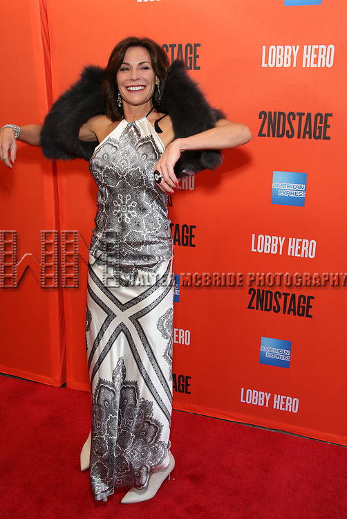 """LuAnn deLesseps attending the Broadway Opening Night Performance of  """"Lobby Hero"""" at The Hayes Theatre on March 26, 2018 in New York City."""