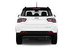 Straight rear view of a 2018 Jeep Compass Limited 5 Door SUV stock images