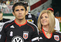 Jaime and wife louise during festivities surrounding the final appearance of Jaime Moreno in a D.C. United uniform, at RFK Stadium, in Washington D.C. on October 23, 2010. Toronto won 3-2.